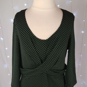 Signature by Robbie Bee Dresses - Signature by Robbie Bee Green Polka Dot Dress